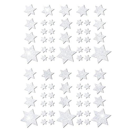 Oblique-Unique® Weihnachts Sterne Sticker Aufkleber - Deko Weinachten - Farbe wählbar (Weiß)