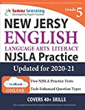 New Jersey Student Learning Assessments (NJSLA) Test Practice: Grade 5 English Language Arts Literacy (ELA) Practice Workbook and Full-length Online Assessments: New Jersey Test Study Guide