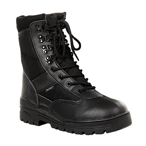 Copytec Kommando Einsatz Stiefel Tactical Springerstiefel schwarz Polizei Security#15975, Schuhgröße:43, Farbe:Schwarz