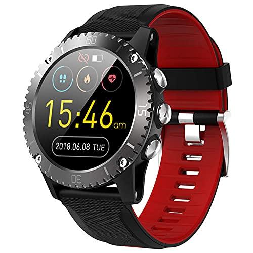 LLM Reloj Inteligente Deportivo para Hombre, Bluetooth, información Musical, frecuencia cardíaca, presión, Altura, medición, recordatorio de Llamada, Reloj Inteligente(A)
