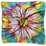 Unisex Bandana Head and Neck Tie Neckerchief Headdress Silk-Like,Oil Paint Of Blooming Peyote Flower Abstract Petal Floral Print Image,Square Scarves Bandana Scarf