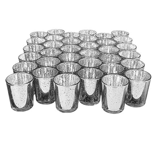 Preisvergleich Produktbild Royal Imports Glas Votivgläser Silber-NA