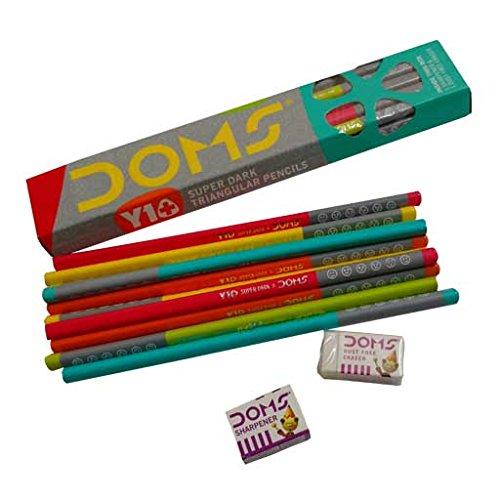 Doms Y 1 + Super Dark Triangle Pencils (Pack Of 50 Pencils)