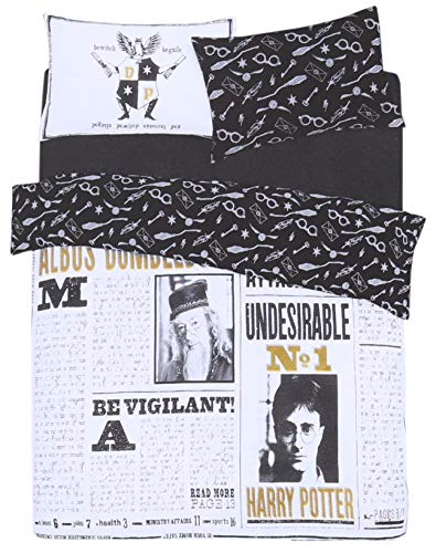Set di lenzuola bianco-nero 200x200 HARRY POTTER