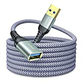 AINOPE USB 延長 3M USB3.0 延長ケーブル 金メッキコネクタ 高速データ転送 aオス-aメス USBケーブル 延長コード 高耐久ナイロン編組