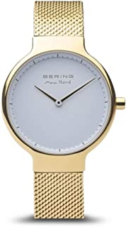 BERING Time 15531-334 Max René Collection Slim Watch with Mesh Strap and Scratch Resistant Sapphire Crystal. Designed in Denmark.
