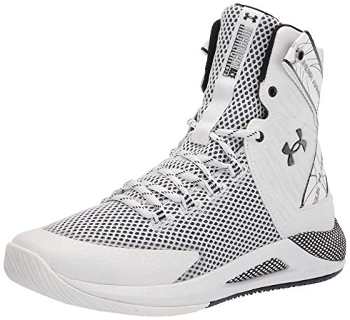Under Armour Women's HOVR Highlight Ace, White (102)/Black, 8 M US