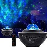【2020最新版&リモコン式】Yashashi スタープロジェクターライト ベッドサイドランプ 2 in 1 レーザー&LEDデジタル・Bluetooth5.0/USBメモリに対応・21種点灯モード・タイマー機能付き 星空ライト 音声制御 輝度/音量調整可 星空プロジェクター 家庭用 寝かしつけ用おもちゃ ロマンチック雰囲気作り プラネタリウム/クリスマス/ハロウィン/パーテイー飾り/お子さん・彼女にプレゼント/誕生日ギフト 日本語説明書&12ヶ月品質保証付き ブラック