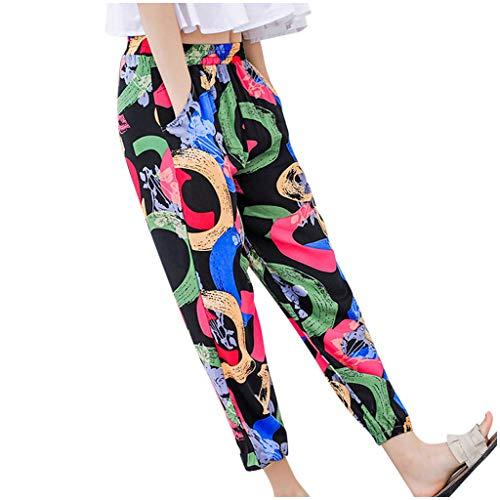 Pantalon Femme, YUYOUG 2020 Mode Femmes Taille Haute Casual Longue Lâche Imprimé Crayon Pantalon Dames