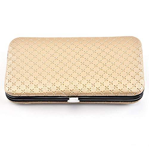 CDFD 20pcs Nagel Kit mit Etui Nagelpflege Pediküre Schere Pinzette Maniküre Beauty Tool, Gold