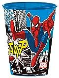 Spiderman - Vaso de plástico reutilizable rígido (1 vaso de plástico reutilizable rígido)