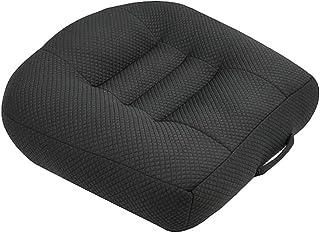 YUANYOU Cuscino di Rialzo per Poltrona Cuscino di Seduta Grande 40 x 40 x 12 cm con Cuscino di Supporto Nero in Cotone Mor...