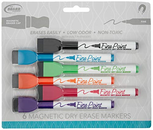 Board Dudes SRX Magnetic Dry Erase Markers, Assorted Colors, 24-Pack