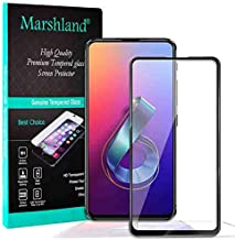 MARSHLAND 11D Full Glue Anti Scratch Bubble Free Edge to Edge Smooth Screen Protector Tempered Glass Compatible for Asus Z...