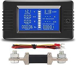 Medidor de CC digital 6.5~100V 20A LCD Voltaje Corriente Energ/ía Medidor de energ/ía Probador Mult/ímetro Amper/ímetro Volt/ímetro para interiores