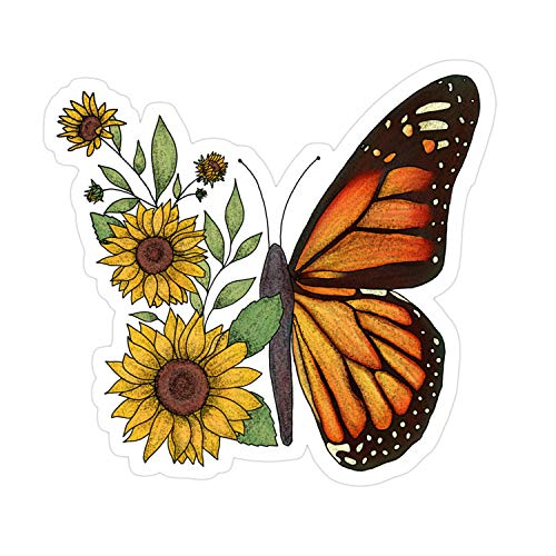 Cozac-3pcs-Butterfly-Sticker for Laptop, Phone, Cars, Decal Vinyl Funny Stickers for Computers, Bumpers, Hydro Flasks, Water Bottles, Case