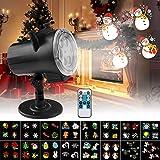 Qxmcov Proiettore Lampada LED, Halloween Lampada Proiettore Luci Natale con 16 Diapositive a Tema Colorato e Telecomando, Ideale per Natale Halloween Feste Compleanno Carnevale