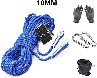 LJNAB Cuerda de Rescate Profesional para Escalada de Roca, Cuerda de Seguridad de 10 mm de Alta Resistencia, Cuerda de Supervivencia para Exteriores, 10 m, 20 m