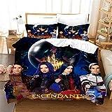Yeataus Descendants Bedding Set Full Size 3Pices Boys Girls Kids Movie Theme Duvet Cover Set