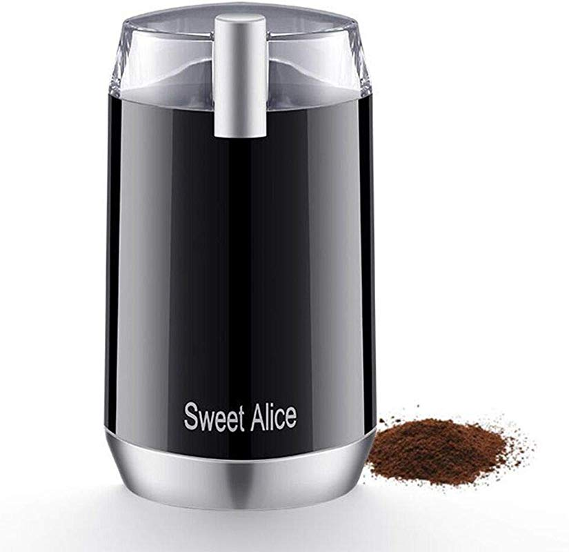 Sweet Alive Electric Coffee Grinder 120V Powerful Stainless Steel Blade With Large Grinding Capacity And HD Motor Suitable For Herbs Nuts Cereals Etc 2 Years Warranty