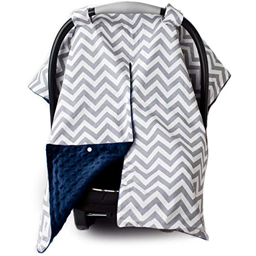 Car Seat Canopy and Nursing Cover Up with Peekaboo Opening -...