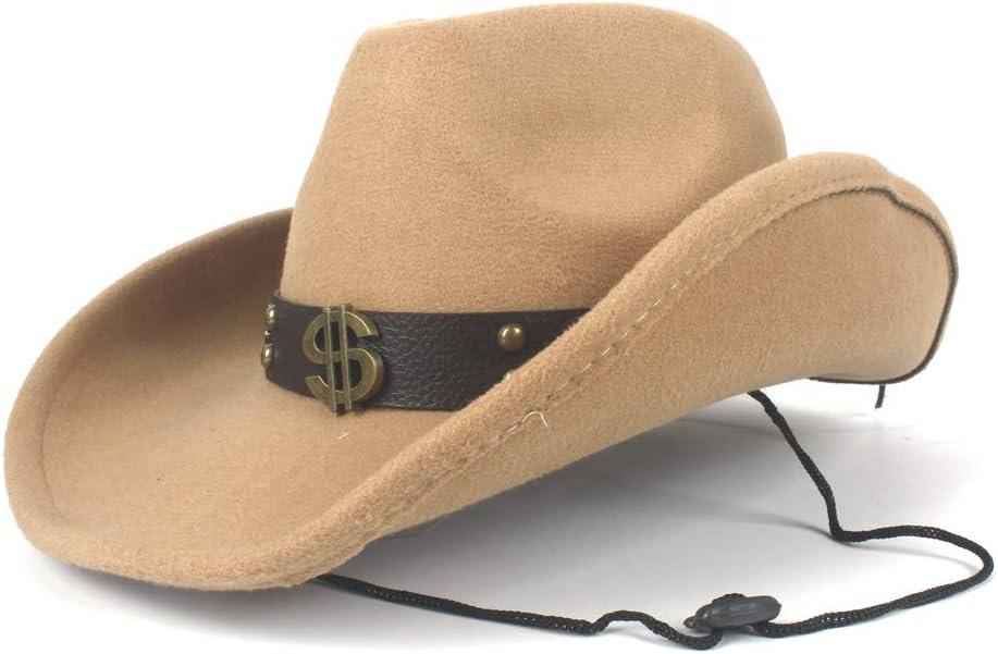 HHHCM-US Women Men Unisex Wool Hollow Western San Francisco Mall Cowboy Hat for trust Gen