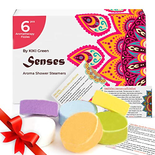 Shower Steamers with Essential Oils for Home Spa Relaxation Stress Relief Gift for Women Aromatherapy Tablets 6 Scents