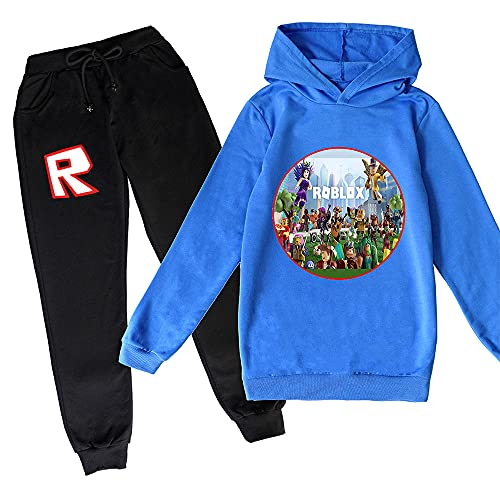 ZKDT Sudadera unisex con estampado 3D para niños, sudadera con capucha, chándal, ropa de calle y pantalones Diseño 3 130 cm