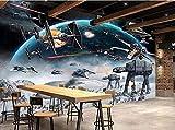 CQDSQN 3D pegatinas de pared Auto-adhesivo Personajes de la película Planet Papel pintado Mural Comida y bebida Pizza Restaurante Tienda de café Mural Pelo Uñas Belleza Tema Moderno Fot(W)300x(H)210cm