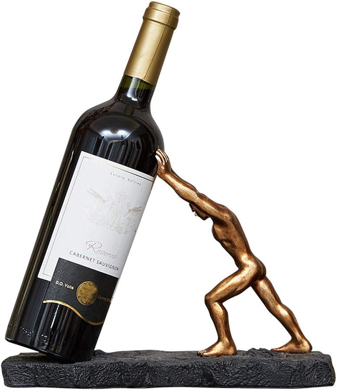 distribución global WEIUTY Estante estantería estantería estantería Estante para Parojo de Tablero de Madera Creativo Estante del Vino Europeo decoración de la decoración del gabinete Vino en casa  cómodo