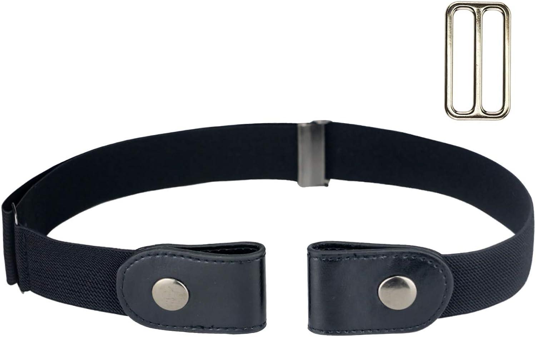 No Buckle Women/Men Stretch Belt, Invisible Elastic Belt for Jeans Pants Dresses