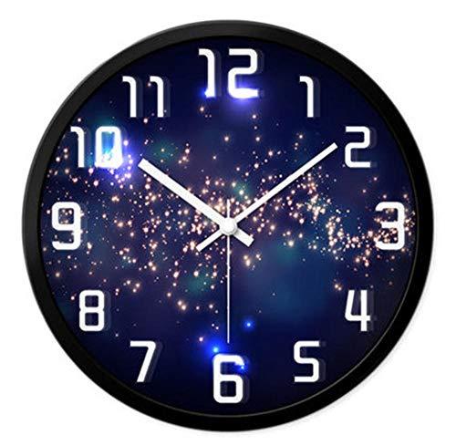 rrff Relojes De Pared C Reloj De Pared Decorativo Antiguo Reloj De Pared Mudo Grande Arte Digital Clásico Decoración del Hogar Herramientas De Decoración