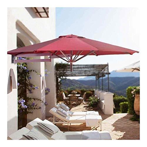 LTY Sonnenschirm für Terrasse, Garten, Sonnenschirm, Markise, tragbar, Wandmontage, Aluminium