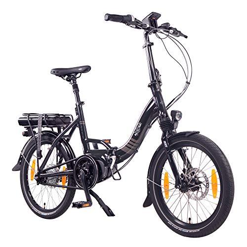 "NCM Paris MAX N8R Bicicleta eléctrica Plegable, 250W, Batería 36V 14Ah 504Wh, 20"" (Negro)"
