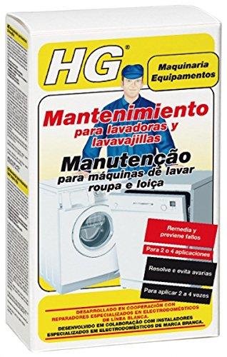 HG Mantenimiento para lavadoras y lavavajillas 200 ml - Resuelve y previene las averías
