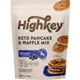 HighKey Keto & Low Carb Pancake & Waffle Mix - Blueberry - Gluten & Grain Free Food - Protein Breakfast Products & Snacks - No Sugar Added Ketogenic Fluffy Pancakes - Paleo & Diabetic Diet Friendly