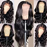 Arabella Lace Front Wigs Human Hair 10a 4x4 Transparent Lace Front Wigs Body Wave Human Hair With Baby Hair Pre Plucked Bleached Knots 150% Human Hair Wigs (20 inch, 4x4 body wave wig)