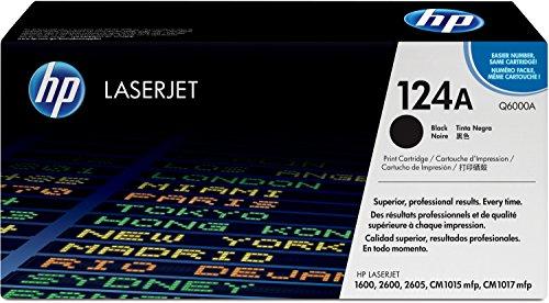 HP 124A (Q6000A) Schwarz Original Toner für HP Color Laserjet 2600, 2605, 1600, CM1016, CM1017