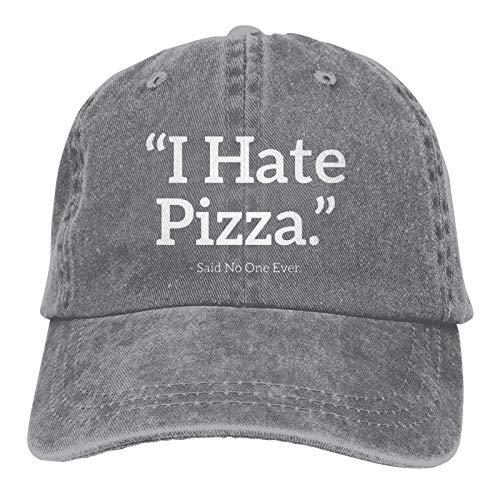 VJSDIUD Gorra de Mezclilla Popular Unisex Odio la Pizza Dijo Que Nadie Gorra de Camionero para Adultos Gorras de béisbol Ajustables Vintage