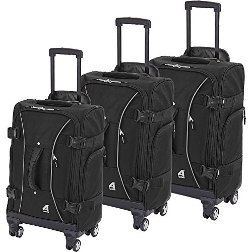Athalon Hybrid Spinners Luggage 3 Pc Set Black, One Size