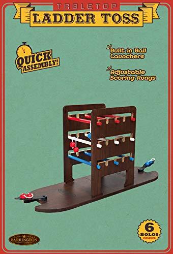 Medal Sports Corp Barrington Tabletop Ladder Toss, Indoor Game, Dark Brown/Red/Blue