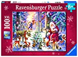 Ravensburger Christmas in The Forest100 Piece XXL Jigsaw Puzzle for Kids – Every Piece is Unique, Pieces Fit Together Perfectly