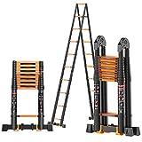 Telescópico Aluminio Aleación Escalera,multifunción Escalera Extensión Escaleras De Mano Extensible Anti-slip Plegable Escalera Multi-propósito Escalera-b5 3.4+3.4m