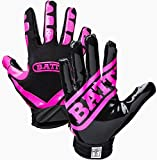 Battle Football Glove, Pink/Black, Adult X-Large