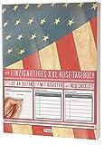 """Mein Reisetagebuch • 122 Seiten, Register, Kontakte / Neue Auflage mit Reise Checkliste / PR401 """"Amerika Flagge"""" / DIN A4 Soft Cover"""