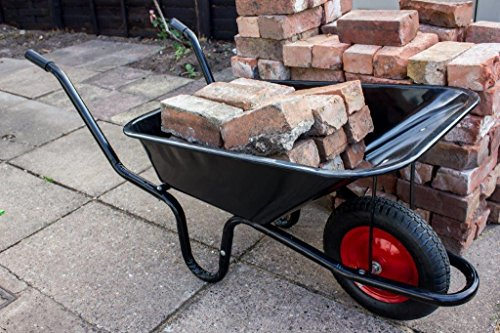 Ambassador Boxed Black Builders Wheelbarrow 90 Litre