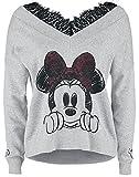 Micky & Minnie Minnie Mouse Mujer Sudadera Gris/Melé S
