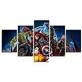 YspgArt Lienzo Impreso de 5 Piezas Sin Marco Vengador de Milagros Ultron Superhéroe lienzo de Pared para el Hogar Sala de Estar Oficina Decoración Regalo (Sin Marco)