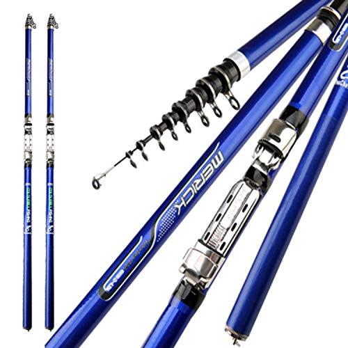 Goods-Store-uk Fishing Rods blauw stang pol Feeder Rok hengel carbon telescoop karper hengel M power hand surf spin