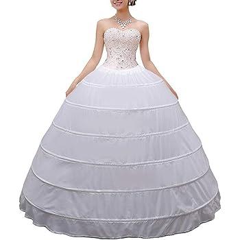 Missveil Women Crinoline Petticoat Hoop Skirt Slips Long White Size One Size At Amazon Women S Clothing Store